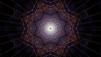Lignes de forme d'étoile illustration de conception kaléidoscope 3d pour le fond ou la texture photo