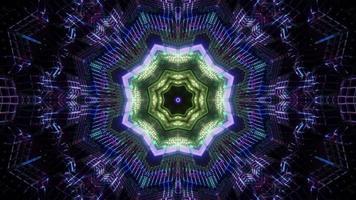 illustration de kaléidoscope 3d vert et bleu pour le fond ou la texture photo