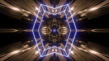 Illustration de conception de kaléidoscope 3D pour le fond ou la texture photo