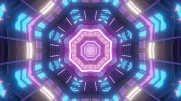Illustration de conception de tunnel de kaléidoscope 3D pour le fond ou la texture photo