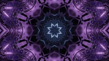 Illustration de conception florale kaléidoscope 3D pour le fond ou la texture photo