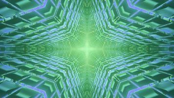 illustration de conception kaléidoscope 3d coloré pour le fond ou la texture photo
