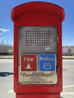 cabine d'appel d'urgence photo