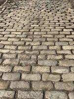 ancienne route pavée photo