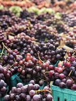 Gros plan d'un tas de raisins dans une place de marché
