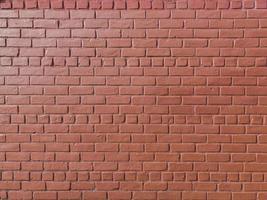 mur de briques peintes en rouge