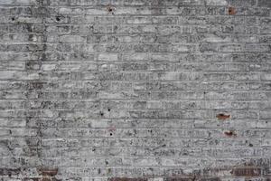 mur de briques blanchies à la chaux photo