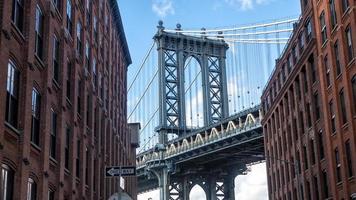 Pont de Manhattan de Dumbo à Brooklyn, New York photo