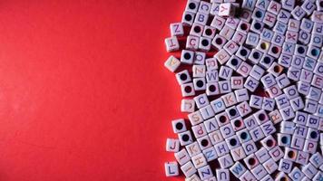 tas de perles lettre photo