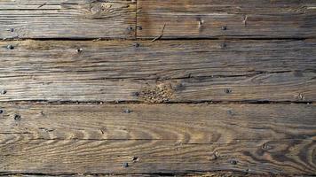 vieilles planches de bois sur la jetée photo