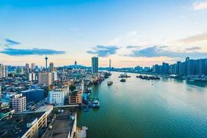 paysage urbain de la ville de macao photo