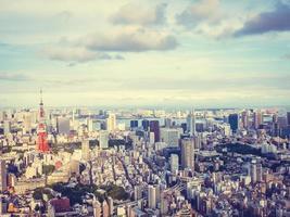 Paysage urbain de la ville de tokyo au japon photo