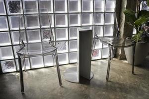ensemble de meubles modernes de café minimal photo