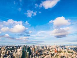 Paysage urbain de la ville de tokyo au japon