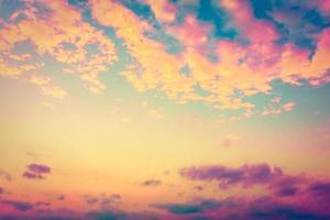 fond de nuages vintage