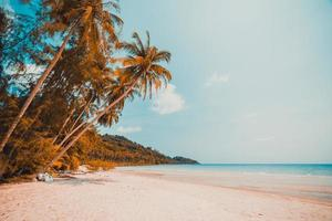 plage tropicale sur une île paradisiaque photo
