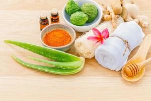 soins de la peau traditionnels thaïlandais photo
