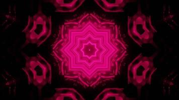 illustration de conception de kaléidoscope 3d floral pour le fond ou la texture photo