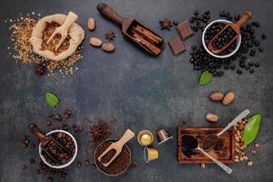 cadre d'ingrédients savoureux