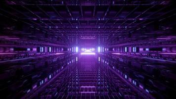 Illustration de conception kaléidoscope 3d violet et bleu pour le fond ou la texture photo