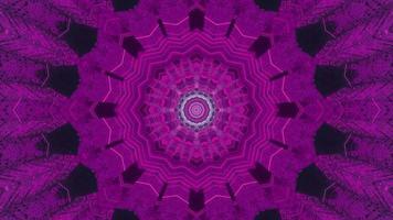 illustration de conception de kaléidoscope 3d floral bleu et violet pour le fond ou la texture