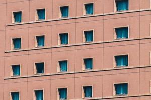 Vue extérieure du bâtiment en brique rouge photo
