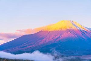 Mont Fuji au lac Yamanakako ou Yamanaka au Japon