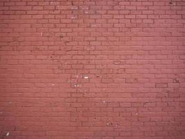 un mur de briques rouges photo