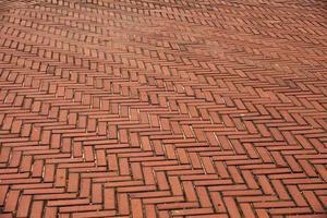 Route de brique rouge dans Central Park, New York photo
