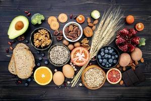 vue des aliments sains