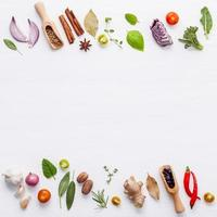 frontières d'ingrédients frais photo