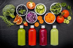 concept de jus de fruits frais photo