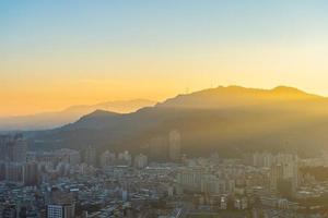 Vue aérienne de la ville de Taipei, Taiwan photo
