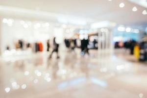 Intérieur du centre commercial flou abstrait photo