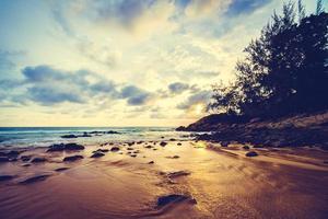 coucher de soleil sur la plage