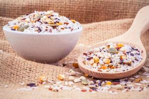 riz multigrain coloré