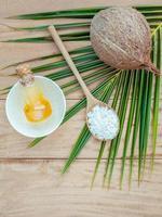 ingrédients du spa à la noix de coco