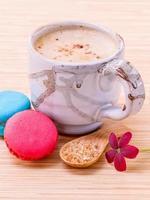 café et macarons photo
