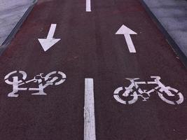 Un feu de circulation vélo dans la ville de Bilbao, Espagne photo