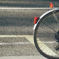roue de vélo pour le transport photo
