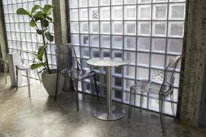 décorations intérieures minimales de café photo