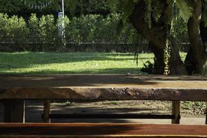 table de pique-nique dans le parc photo