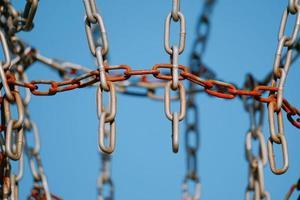 équipement de sport de filet de chaîne métallique
