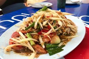 salade de papaye verte thaï photo
