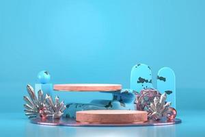 scène de fond bleu abstrait