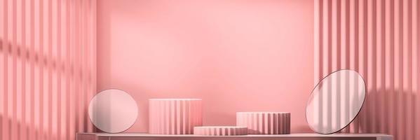 maquette de podium de scène abstraite