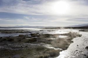 Aguas terrmales de polques en bolivie photo
