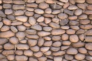 mur pavé rond