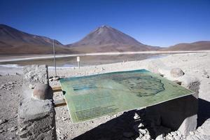 Lac Laguna Verde et volcan Licancabur en bolivie