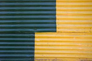 détail de la façade colorée photo